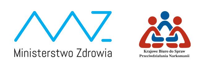 Logo Ministerstwa Zdrowia oraz Krajowego Biura do Spraw Przeciwdziałania Narkomanii
